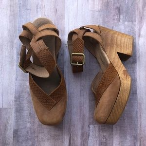 Free People Walk This Way Clogs Ankle Strap Clogs